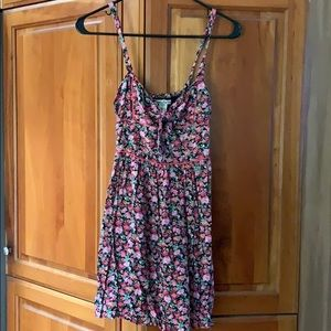 Floral skater dress with spaghetti straps